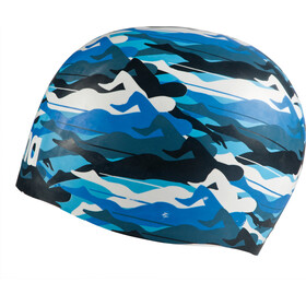 arena Poolish Moulded Swimming Cap swimmer camo blue-white